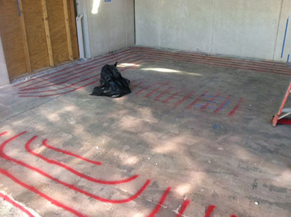 Rebar And Radiant Heating Tubes Located - La Jolla, CA