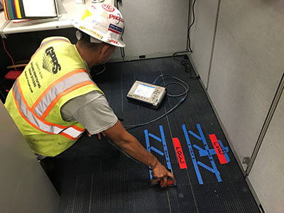 Ground Penetrating Radar Scan Performed at T4 LAX